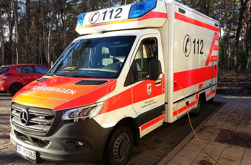 Neu aufgearbeitete Rettungswagen